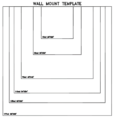 Wall mount template
